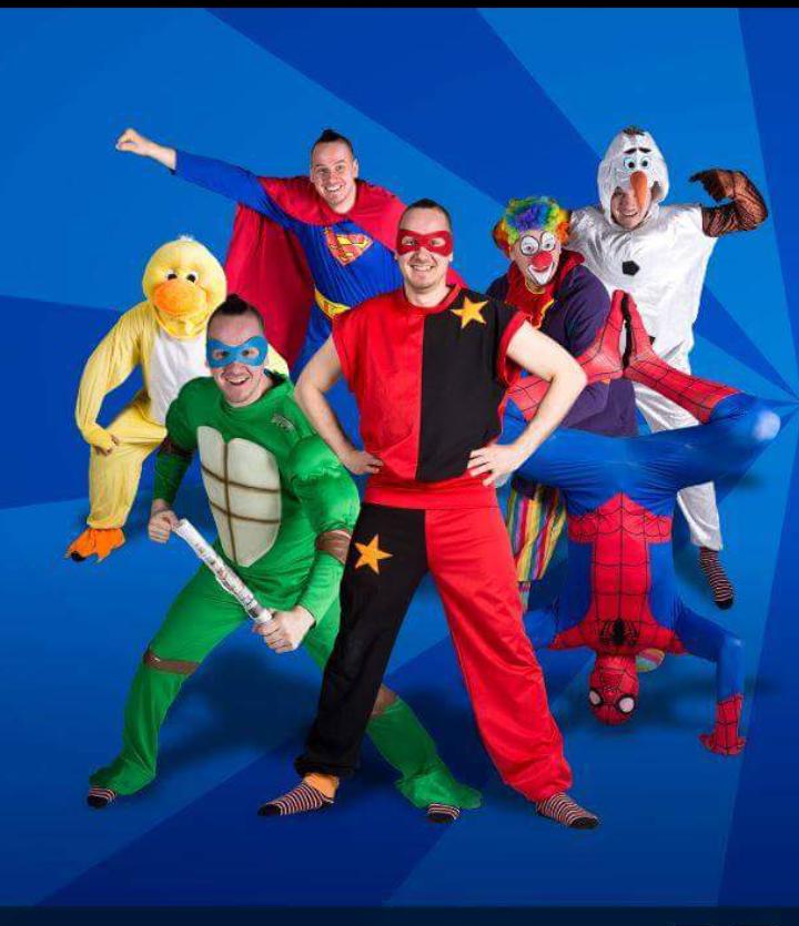 Super Sam erilaiset hahmot